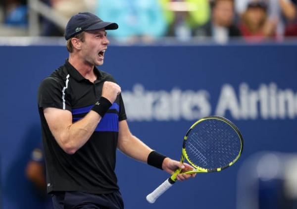 Botic van de Zandschulp in action at the US Open.