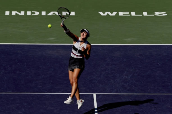 Bianca Andreescu during the 2019 WTA Indian Wells Open final.