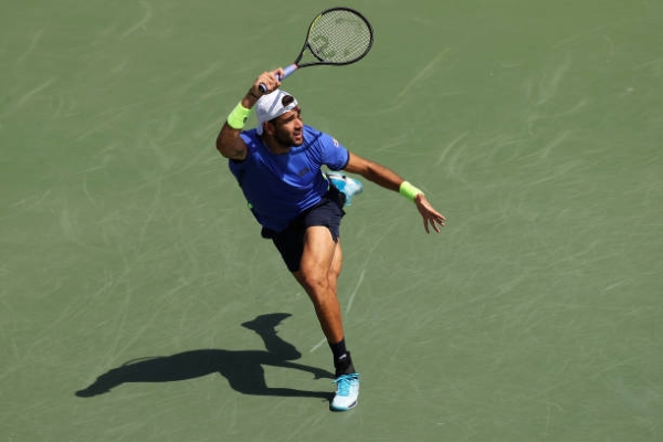 Matteo Berrettini in action ahead of the ATP Indian Wells Masters.