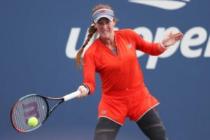 Madison Brengle in action ahead of the WTA Indian Wells Open.