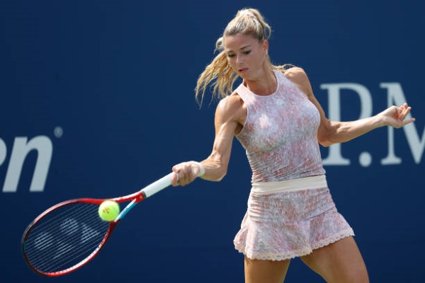Camila Giorgi in action ahead of the WTA Tenerife Open.