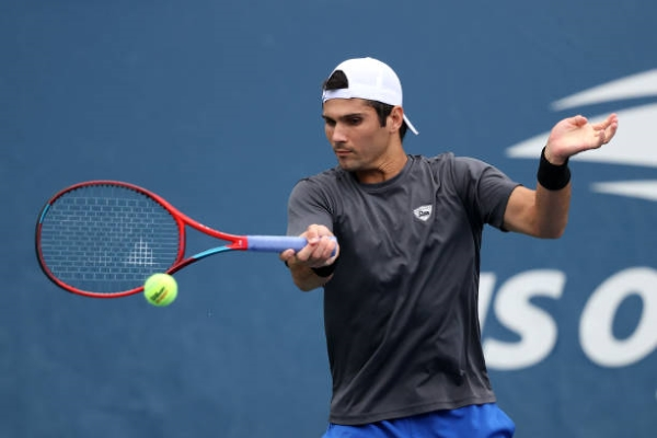 Marcos Giron in action ahead of the ATP Sofia Open.