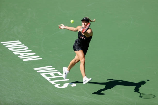 Angelique Kerber in action at the WTA Indian Wells Open.
