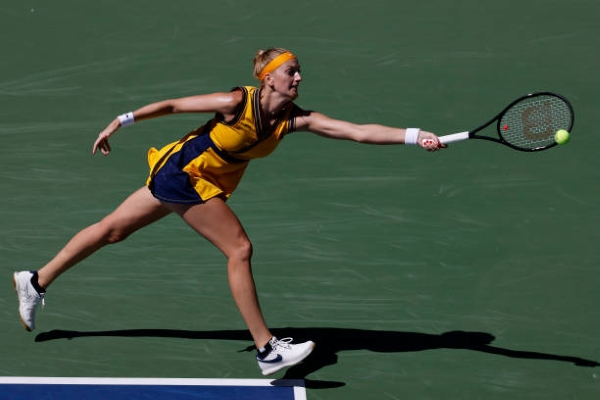 Petra Kvitova in action ahead of the WTA Indian Wells Open.