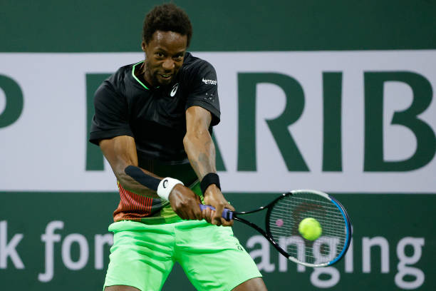 Gael Monfils in action at the ATP Indian Wells Open.