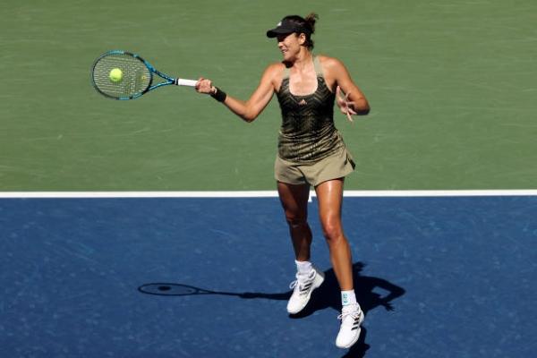 Garbine Muguruza in action at the WTA Indian Wells Open.