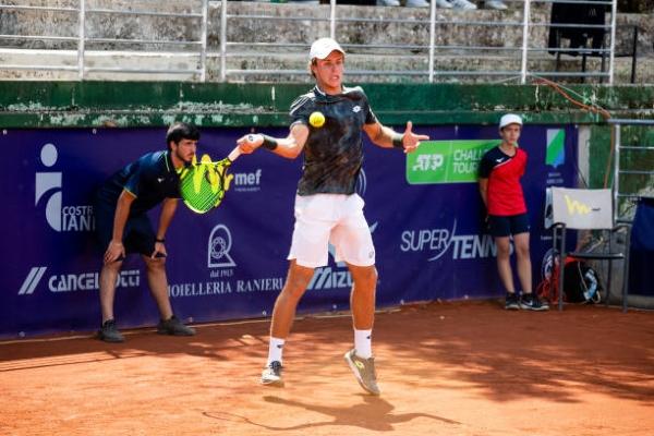 Dmitry Popko in action on the ATP Challenger Tour.