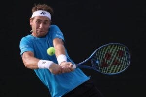 Casper Ruud in action at the ATP San Diego Open.