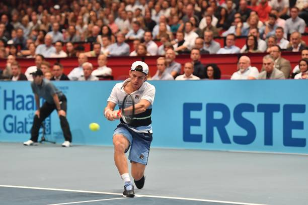 Diego Schwartzman in action at the 2019 ATP Vienna Open.