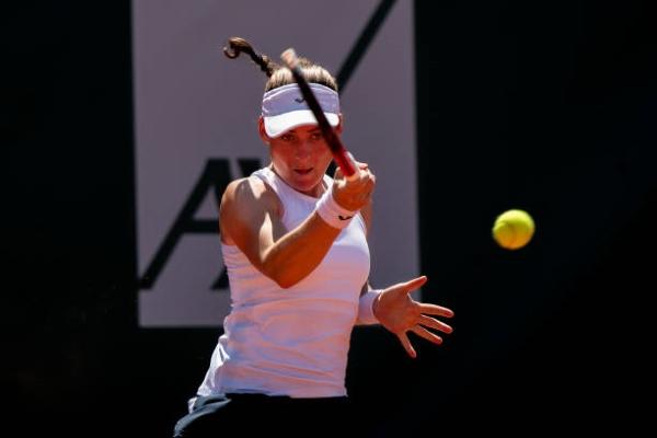 Tamara Zidansek in action ahead of the WTA Tenerife Open.