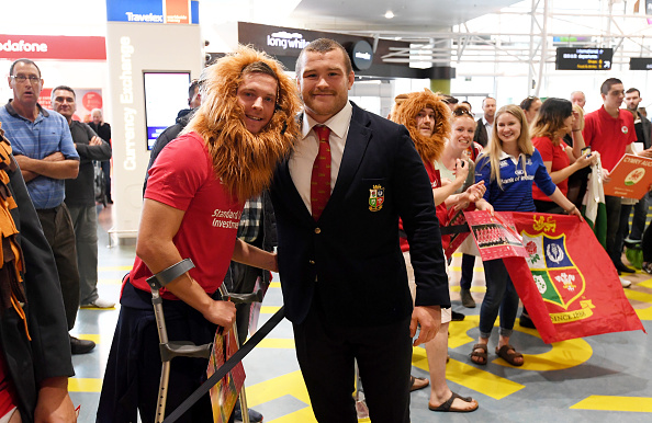 British and Irish Lions Arrival in New Zealand