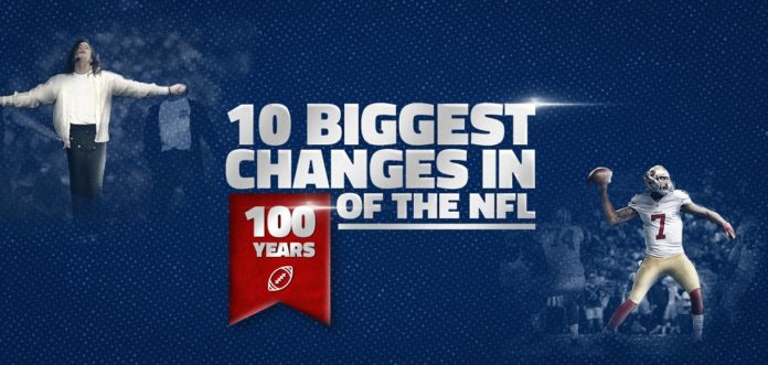 10 Biggest Changes in 100 Years of the NFL