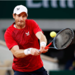 Andy Murray in action ahead of the ATP Cologne Indoors